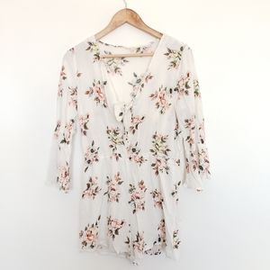 Pants - 4 for $25 white floral romper